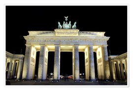 Brandenburger Tor in Berlin bei Nacht