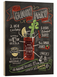 Holzbild  Bloody Mary Rezept (Englisch) - Lily & Val