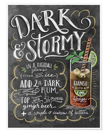 Premium-Poster  Dark and Stormy Rezept (Englisch) - Lily & Val