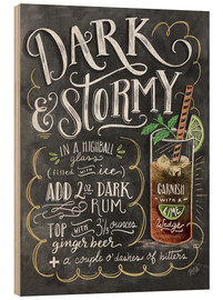 Holzbild  Dark and Stormy Rezept (Englisch) - Lily & Val