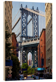 Holzbild  Manhattan Bridge und Empire State Building