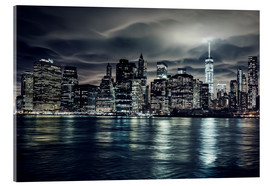 Acrylglasbild  Manhattan bei Nacht, New York City