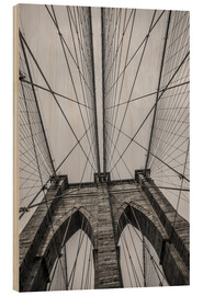 Holzbild  Brooklyn Bridge in New York