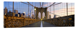 Acrylglasbild  Brooklyn-Brücke in Manhattan, New York