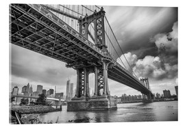 Acrylglasbild  Die Manhattan Bridge