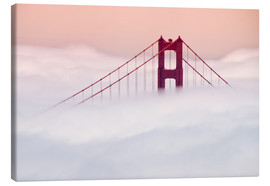 Leinwandbild  Golden Gate Bridge in den Wolken