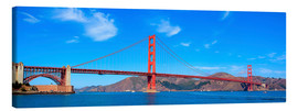 Leinwandbild  Panorama-Blick auf Golden Gate Bridge