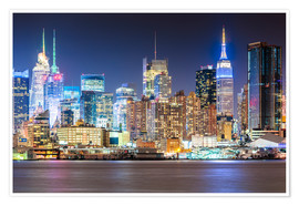 Sascha Kilmer - Manhattan Skyline in Neon Colors