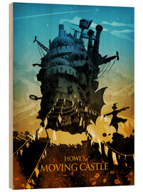 Holzbild  Howl's Moving Castle 2 - Albert Cagnef