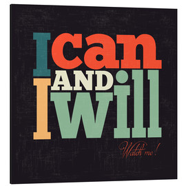 Alubild  I can and I will - Typobox