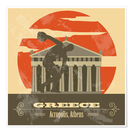 Poster Griechenland - Akropolis