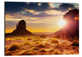 Alubild  Sonnenuntergang an den Schwestern in Monument Valley, USA