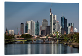 Acrylglasbild  Skyline Frankfurt am Main Shining Morning - Frankfurt am Main Sehenswert