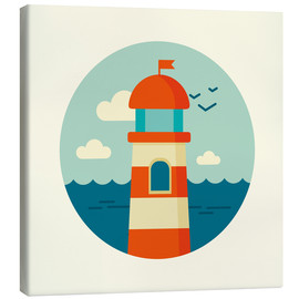 Leinwandbild  Leuchtturm im Kreis - Kidz Collection