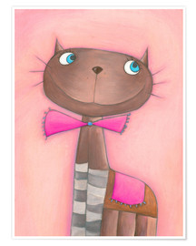 Poster Katze Candy Cat