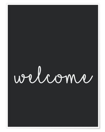 Premium-Poster  Welcome - Willkommen - Finlay and Noa