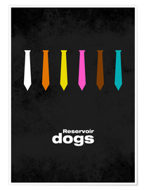 Premium-Poster Reservoir Dogs - Minimal Film Movie Tarantino Alternative