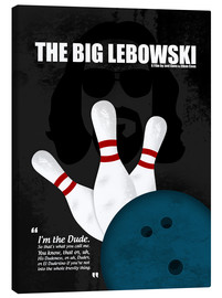 Leinwandbild  The Big Lebowski - Minimal Movie Film Kult Alternative - HDMI2K