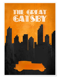 Premium-Poster The Great Gatsby - Minimal Movie Film Fanart Alternative