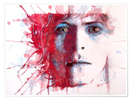 Premium-Poster  The Prettiest Star : David Bowie - Paul Lovering Arts
