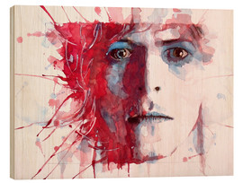 Holzbild  The Prettiest Star : David Bowie - Paul Lovering Arts