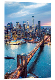 Acrylglasbild  Brooklyn Bridge und Manhattan - Matteo Colombo