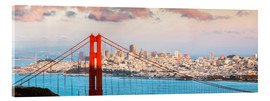 Acrylglasbild  Panorama Sonnenuntergang über Golden Gate Bridge und San Francisco Bay, Kalifornien, USA - Matteo Colombo