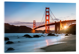 Acrylglasbild  Golden Gate Bridge mystisch - Matteo Colombo