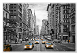 Premium-Poster NYC 5th Avenue Verkehr