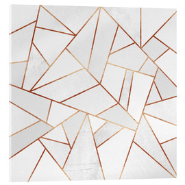 Acrylglas  White Stone and Copper Lines - Elisabeth Fredriksson