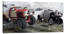 Leinwandbild  Monstertruck Wettrennen - Kalle60