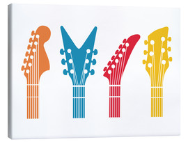Leinwandbild  Gitarren Pop Art - Nory Glory Prints