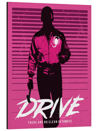 Alubild  Drive Ryan Gosling Filmposter - Golden Planet Prints