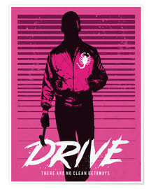 Golden Planet Prints - Drive ryan gosling movie inspired art