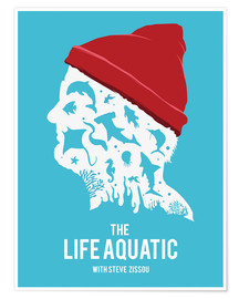 Golden Planet Prints - The life aquatic Steve Zissou art movie inspired
