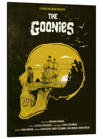 Alubild  The Goonies (Englisch) - Golden Planet Prints