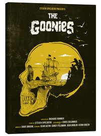 Leinwandbild  The Goonies movie inspired skull never say die art - Golden Planet Prints