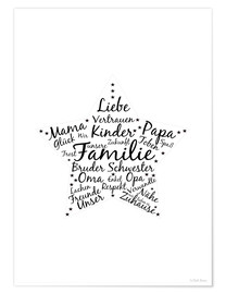 Poster Familienstern - Unsere Familie