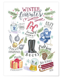 Poster  Winter Favoriten - Lily & Val