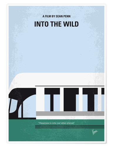 Poster Into the Wild minimal movie poster