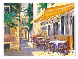 Premium-Poster  Cafe Provence - Paul Simmons