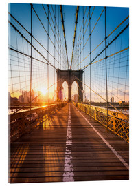 Acrylglasbild  Brooklyn Bridge im Sonnenlicht in New York City, USA - Jan Christopher Becke