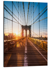 Alubild  Brooklyn Bridge im Sonnenlicht in New York City, USA - Jan Christopher Becke
