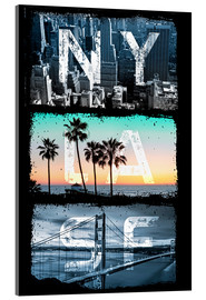 Acrylglas  New York Los Angeles San Francisco