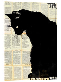 Acrylglas  Black cat - Loui Jover