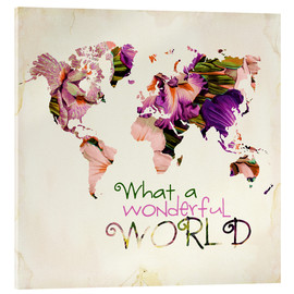 Acrylglasbild  What A Wonderful World Map - Mandy Reinmuth