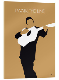 Acrylglas  No010 MY Johnny Cash Minimal Music poster - chungkong
