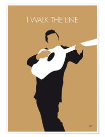 Premium-Poster  No010 MY Johnny Cash Minimal Music poster - chungkong