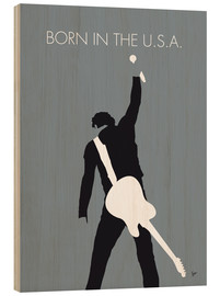 Holzbild  Bruce Springsteen - Born In The U.S.A. - chungkong