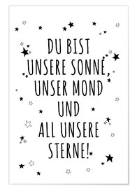 Poster  Sonne Mond Sterne - Ohkimiko